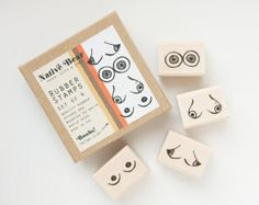 Boob Rubber Stamp Set