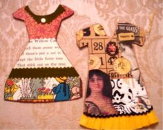 Paper Doll Dresses by bleintz, via Flickr  Bingo Card Crafts
