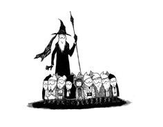 (via hobbitmoments) In the style of Edward Gorey. Love it!