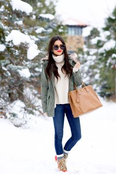 Cozy knits, great boots and a pair of sunnies make the cold weather seem a little more bearable.