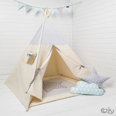 Teepee grey stars idea for christmas present