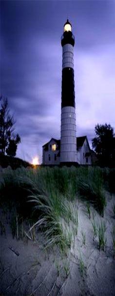 Big Sable Point #Lighthouse in Ludington State Park at Ludington, #MI http://dennisharper.lnf.com/