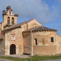 A beautiful Roman church in Castillejo de Mesleón, Castilla and León, with on top typical stork nests. #travel#Spain#Roman art#