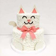 Excellent Picture of Cat Birthday Cakes . Cat Birthday Cakes Cat Cake Jkarseneau I Know Luke Loves Cats Homemade Sweets Cute Birthday Ideas, Birthday Cake For Cat, Cool Birthday Cakes, Birthday Parties, Birthday Kitten, 7th Birthday, Kitten Cake, Kitten Party, Cat Party