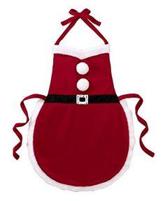 Ganz Christmas Apron - Multi Purpose Santa Suit Apron by Christmas Aprons, Christmas Sewing, Christmas Projects, Christmas Crafts, Christmas Kitchen, Sewing Crafts, Sewing Projects, Apron Designs, Santa Suits