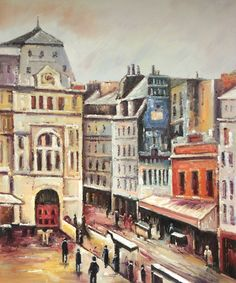 Camille Pissarro - View of Paris, Rue d-Amsterdam.   Hand painted oil reproductions available at overstockArt.com