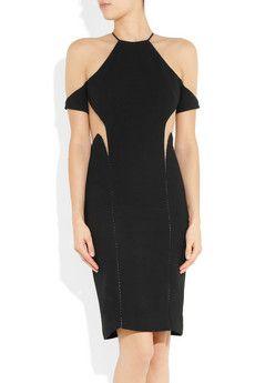 Dion Leesuspended mesh-paneled dress