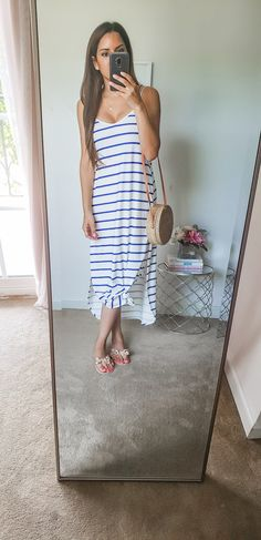 Basic Outfits, Mom Outfits, Everyday Outfits, Cute Outfits, Summer Outfits For Moms, Cute Summer Dresses, Casual Summer Outfits, Cute Maxi Dress, White Maxi Dresses