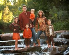 Large Family Pose…Fall portrait!  Love it!