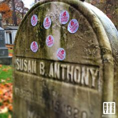 Susan B. Anthony's grave stone with 'I Voted Today! Susan B Anthony, Rochester New York, I Voted, Hippie Life, Women's Rights, Stone, Social Justice, Feminism, Pastor