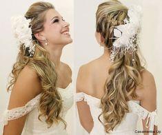 Penteados para noivas semi presos