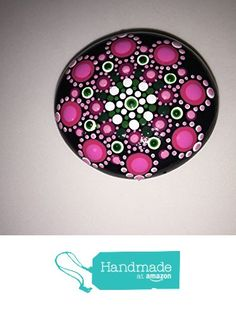 Hand Painted Mandala Stone #136 from Mafa Stones http://www.amazon.com...Pretty in pink,mandala!