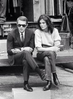 Steve McQueen and Jacqueline Bisset photographed by Barry Feinstein on the set of Bullitt, 1968