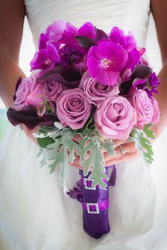 Purple wedding bouquet- Photo by Kracke Photography   www.stacykfloral.com