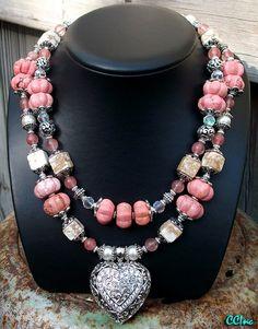 Pink stones Rodeo Queen necklace