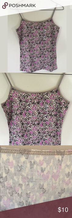 💜NEW Ann Taylor Tank Top Medium Cami Gray Purple Ann Taylor Top Size: Women's size medium Color: gray and purple Condition: new without tags Measurements: Bust= 17, Length= 25 **All measurements are approximate and taken in inches while item is lying flat** Ann Taylor Tops Tank Tops