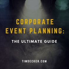 Planning a corporate event takes time and a good strategy. Make sure you've got all your bases covered!