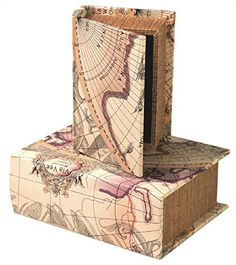 Manual ILCTMS Old World Chateau Map It Out Memory Keepsake Decorative Wood Book Boxes Set  2 -- To view further for this item, visit the image link.