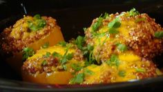 Lyndsay The Kitchen Witch: Crockpot Quinoa and Bean Stuffed Peppers ~ Vegetarian Meals in the Slow Cooker