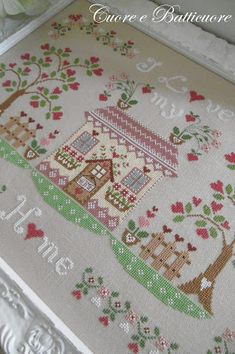 Cross Stitch House, Cross Stitch Needles, Cross Stitch Samplers, Cross Stitching, Embroidery Sampler, Embroidery Hoop Art, Hand Embroidery Patterns, Cross Stitch Embroidery, Cross Stitch Designs