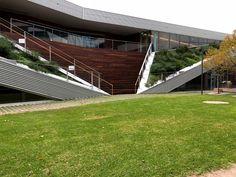 Pridham Hall - Snohetta Architects / Adelaide — STUDIOPHAM. Roof Gardens, Architects, Sidewalk, Deck, Outdoor Decor, Home Decor, Decoration Home, Room Decor, Decks