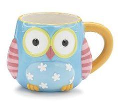 "#Whimsical #Owl Coffee #Mug/cup With ""Life's A Hoot"" Printed On Back $17.99"