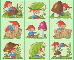 KDE SOM??? Gnomes, Autumn Leaves, Kindergarten, Teaching, Illustration, Fictional Characters, Activities, Elves, Preschool