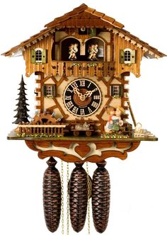 "Hones 14"" 8 Day Chalet Music 86205T Cuckoo Clock"