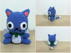 Happy, from the Fairy Tail series by Hiro Mashima - Free Amigurumi Pattern here: http://53stitches.tumblr.com/post/99532652177/whew-things-have-been-busy-for-the-past-few