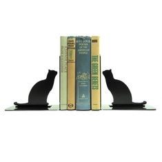 Cat Metal Art Bookends  Free USA Shipping by KnobCreekMetalArts