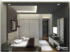 Master Bedroom Ceiling Ideas Elegant Let the Shades Of Gray Make Your Luxurious Bedroom Stand Out Fall Ceiling Designs Bedroom, Luxurious Bedroom, Bedroom False Ceiling Design, Bedroom Design, Bedroom Pop Design, Small Bedroom Designs, Simple Bedroom, Bedroom Bed Design, Bedroom Ceiling