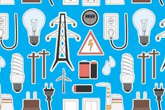 Energy, electricity, power icons by Netkoff on @creativemarket