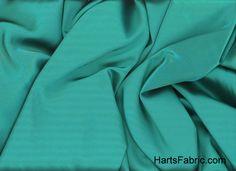 Teal Tahari Satin Fabric