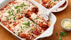Super-Easy Chicken Manicotti (Manicotti similar to Cannelloni) Chicken Manicotti, Manicotti Recipe, Spinach Manicotti, Stuffed Manicotti, Stuffed Pasta, Stuffed Shells, Cheese Manicotti, Ziti Recipe, Stuffed Chicken