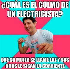 Los problemas de los electricistas        Gracias a http://www.cuantocabron.com/   Si quieres leer la noticia completa visita: http://www.estoy-aburrido.com/los-problemas-de-los-electricistas/