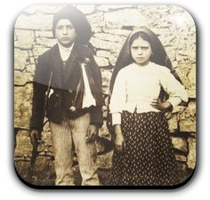 Bl. Jacinta and Francisco Marto - Between May 13 and October 13, 1917, three children, Portuguese shepherds from Aljustrel, received apparitions of Our Lady at Cova da Iria, near Fatima, a city 110 miles north of Lisbon. At that time, Europe was involved in an extremely bloody war. Portugal itself was in political turmoil, having overthrown its monarchy in 1910; the government disbanded religious organizations soon after. Catholic Saints, Roman Catholic, Pope Benedict Xvi, Lady Of Fatima, Pope John Paul Ii, Religious Images, Three Kids, Pilgrimage, Our Lady