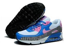 finest selection 5875a fdab6 Nike Air Max 90 Womens White Blue Pink Top Deals IWCeQ, Price   74.00