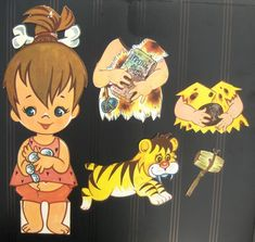 Denglemteskuffes samling Paper Cutting, Paper Toys, Paper Crafts, Pebbles Flintstone, Material Didático, Dawn Dolls, Favorite Cartoon Character, Vintage Paper Dolls, 4th Of July Party