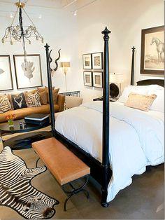 Ebony wood bed