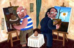 Picasso vs Dali