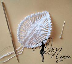 Crochet Flowers Design Delicate crochet leaves - Photo tutorial and pattern - Crochet Leaves, Crochet Motifs, Knitted Flowers, Crochet Flower Patterns, Freeform Crochet, Thread Crochet, Crochet Designs, Pattern Flower, Paisley Pattern