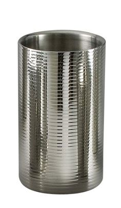 Lines Stainless Steel Wine Cooler DoubleWall x 4 12 Dia by TableTop King ** Read more at the image link. Wine Supplies, Stainless Steel Containers, Wine Chillers, Wines, Elegant, Bottle, Image Link, Ice Buckets, Tabletop