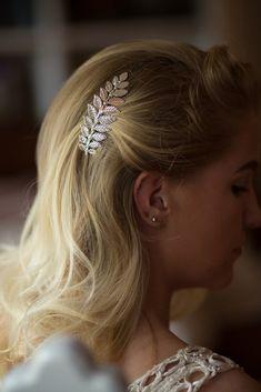 Set of 2 Laurel Bay Leaf Bridal Comb O405  #head #hair #piece #bridal #wedding #comb #rhinestone #crystal #Weddings #destination