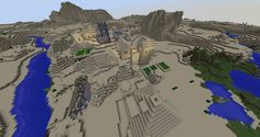 This PC Minecraft seed has a desert village and a desert temple next to each other behind spawn which makes this apretty awesome andreally unique seed.