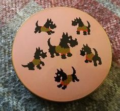 Vintage-1950s-Scottie-Terrier-Dogs-Powder-Compact-Made-in-Great-Britain