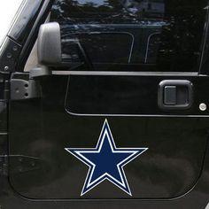 "Dallas Cowboys 12"""" Logo Car Truck Auto Vinyl Magnet"