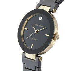 Black Anne Klein watch