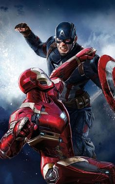 Special Pictures of today for Cinema Lovers Captain America vs Iron ManCaptain America vs Iron Man Marvel Dc Comics, Marvel Avengers, Marvel Civil War, All Marvel Heroes, Poster Superman, Poster Marvel, Iron Man Avengers, Iron Man Spiderman, Iron Man Wallpaper
