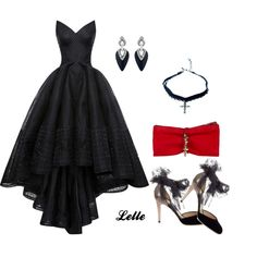 Zac Posen by lellelelle on Polyvore featuring moda, Zac Posen, Jimmy Choo, Dsquared2, Alexis Bittar and Vanessa Mooney