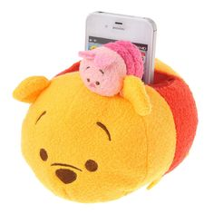 Disney Store TSUM TSUM Mobile Phone Stand ❤ Winne the Pooh & Piglet ❤ Japan NEW